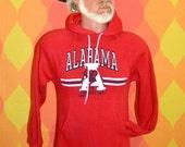 vintage 70s bama hoody sweatshirt university of ALABAMA crimson tide raglan Small red