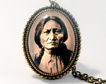 Sitting Bull, The Great Plains Indian Chief Pendant Necklace