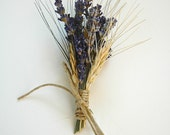 Custom Lavender  and Wheat Boutonnieres, Pin On Corsage or Wrist Corsage