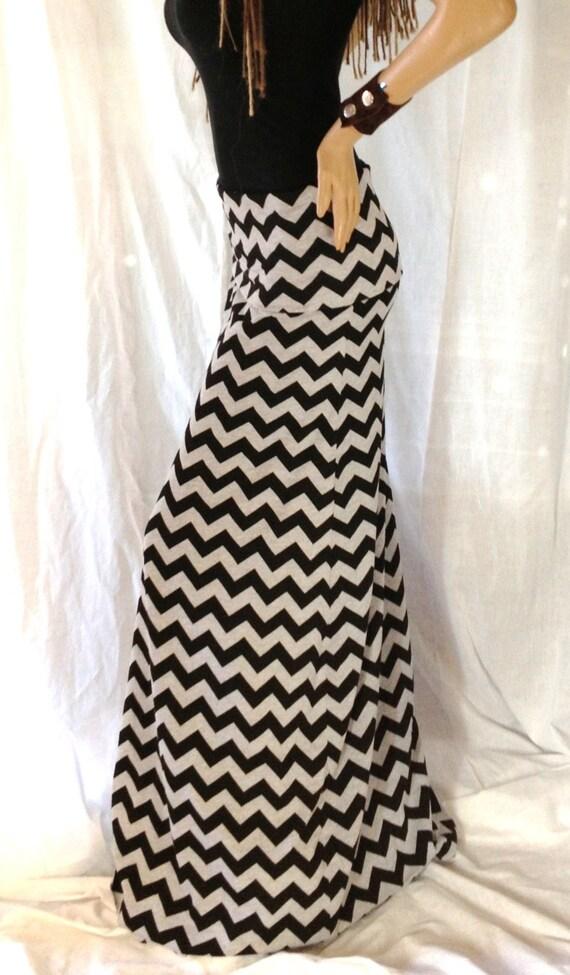 items similar to chevron maxi skirt on sale gray