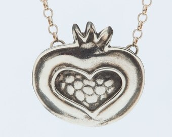 Pomegranate Heart Necklace