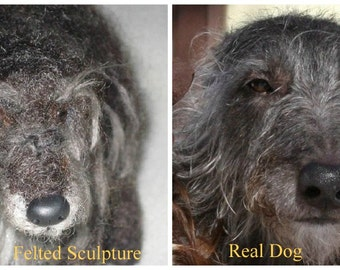 Custom Pet Portrait  / Your Pet in Miniature / Cute / Poseable Art Sculpture Personalized gift  / example Scottish Deerhound Lurcher Large