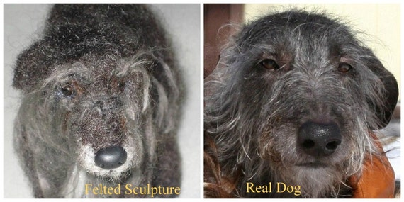 Custom Pet Portrait  / Your Pet in Miniature / Cute / Poseable Art Sculpture Personalized gift  / example Scottish Deerhound Lurcher Large