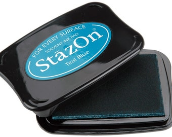 Teal Blue StazOn Permanent Ink Pad --9318