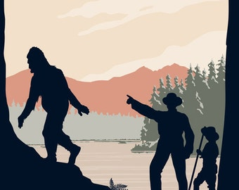 Welcome to Bigfoot Country Poster Print