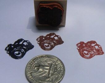P24 Miniature photo camera rubber stamp WM