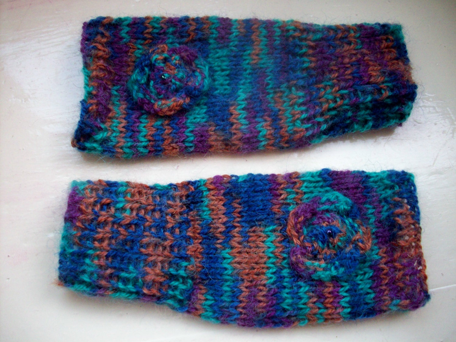 Knitting Kit For Beginners Singapore : Beginner knitting kit hand warmers fingerless gloves turquoise