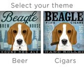 Beagle Coffee dog company artwork illustration graphic art on gallery wrapped canvas by stephen fowler
