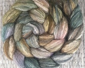 Waste Not, Want Not - Hand dyed Merino/Bamboo/Tussah Silk Combed Top - 4oz