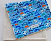 CLOSEOUT SALE - Organic Burp Cloth - Traffic Jam