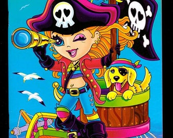 Lisa Frank My Sticker Collection Album Book Tempest the Pirate