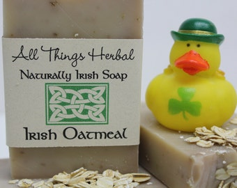 Irish Oatmeal Handmade Soap - for the lover of all things Irish, Natural Handcrafted Soap