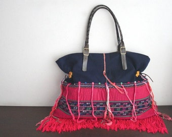 SALE - Tote - Hip / Tribal / Hmong / Miao / Ethnic / Bohemian tote - 2045