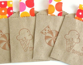 Sweet Treat Small Kraft Bags/Gift Card Holders - Set of 4