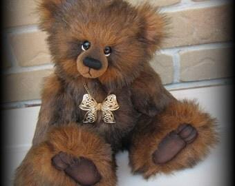 "BENJAMIN artist teddy bear faux fur KIT - 10"" tall when finished"