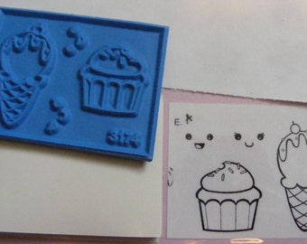 The Angel Company Smiling Treats Rubber Stamp Set of 4