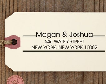 "Custom Eco Friendly Self Inking Stamp Wedding, House Warming Gift, Return Address, Holiday Gifts ""Name37"""