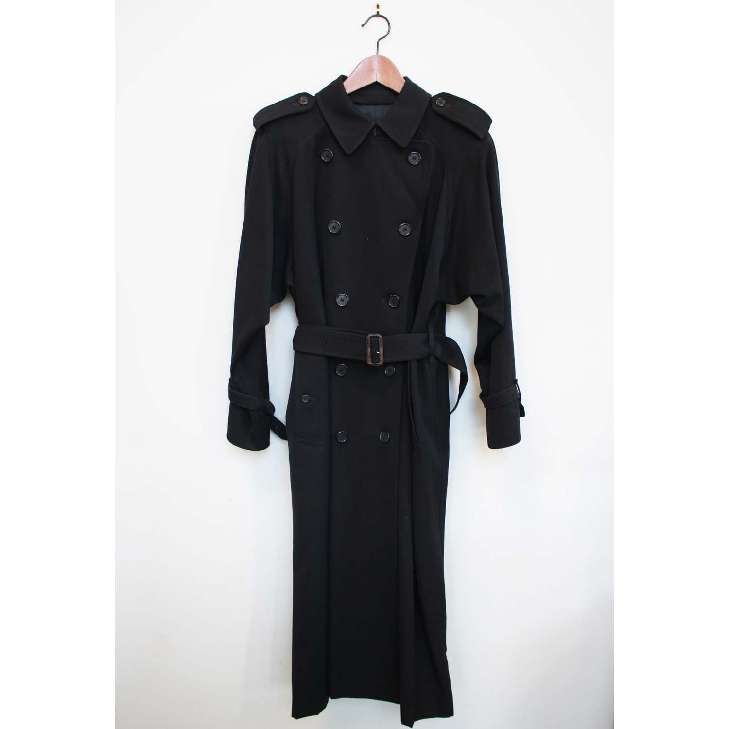 BURBERRY'S Genuine 80's Classic Navy Trench Coat Extra