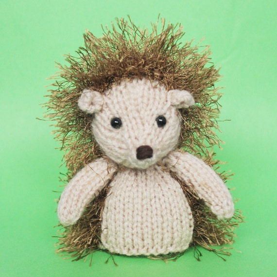 Stuffed Hedgehog Knitting Pattern : Hedgehog Knitting Pattern Toy PDF by Jellybum on Etsy