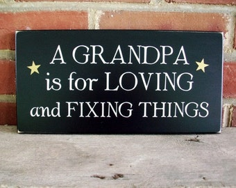 A Grandpa is for Loving Wood Sign Personalized Grandparent Pop Pop Gramps Papa Father'sDay