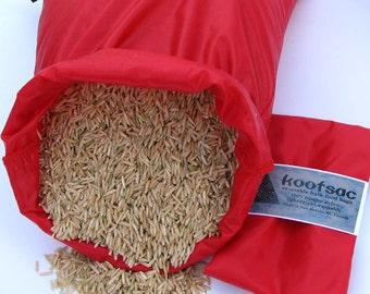 Bulk food bag, reusable produce bag, grain bag, ripstop nylon bag, lightweight nylon, washable food bag, bulk bin bags, red, large size