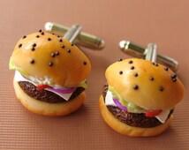 Cheeseburger Cufflinks