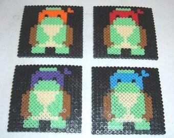 Perler Bead Coasters - BABY TURTLES