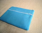 Sky Blue - Front Zipper Pocket - Laptop cover Padded and Zipper Closure for MacBook 13 Inch Pro or 13 Inch Air