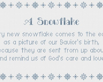 A Snowflake cross stitch pattern - PDF Instant Download