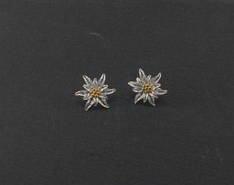 Edelweiss - silver filigree earrings