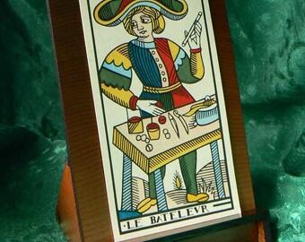 Tall Plain Cedar Card or Kindle Stand