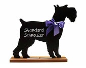 SCHNAUZER CHALKBOARD - Available Cropped, Uncropped, Standard, Miniature or Giant - A Wonderful Pet Lover Gift