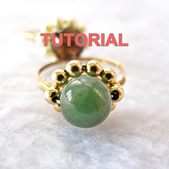 WIRE JEWELRY TUTORIAL-Wire Wrap Sparkly Daisy Ring