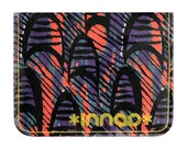 Coral Purple Black 80's Shapes Cotton / Vinyl Wallet