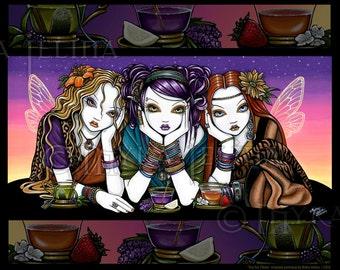 Tea For Three Triplet Rainbow Fairy KiKi Party 8x10 Signed PRINT