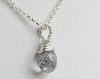 Smooth Tourmalated Quartz Pendant