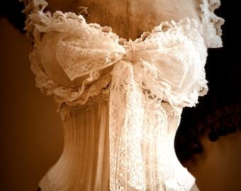 Vintage style Corset perfect bridal lingerie romantic wedding underwear