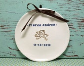 Custom Name and Birthday Plaque for Boy, Personalized Wall Plaque for Baby Boy, Personalized Baby Gift, Wall Hanging with Baby Name and Date
