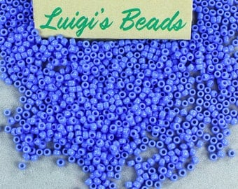 11/0 Round Toho Japanese Glass Seed Beads #48L-Opaque Periwinkle 15g