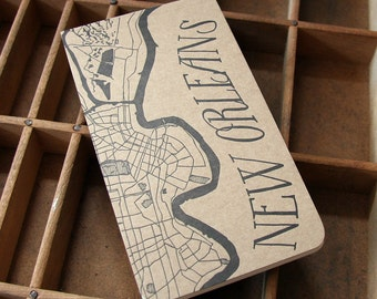 letterpress New Orleans notepad