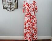 Handmade Medallion Maxi Dress in Red