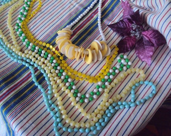 Vintage Yellow Jewelry Collection