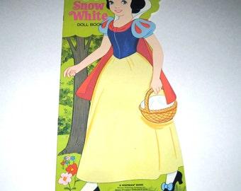 Vintage 1970s Walt Disney's Snow White Paper Doll Book for Children Uncut by Whitman