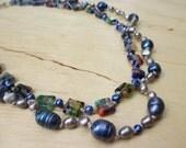 Insouciant Studios Venetian Necklace Pearl and Millefiori Glass