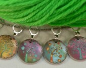 Stylized Rainbow Trees, stitchmarkers for KNITTERS or CROCHETERS