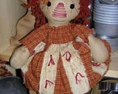 Raggedy  Ann cupboard Doll sewing Pattern Primitive DIY