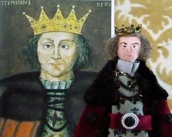 King Stephen of England Art Doll Miniature Collectible Historical