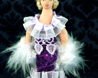 Mae West Doll Miniature Art Collectible