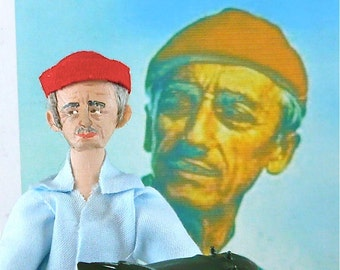 Jacques Cousteau Doll Art Miniature Collectible