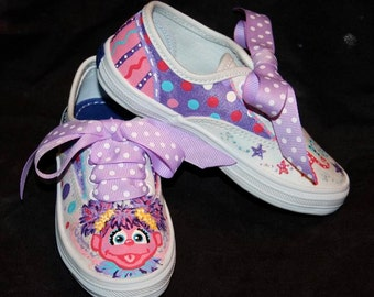 Girl's Custom Painted Tennis Shoes ABBY CADABBY Inspired any size
